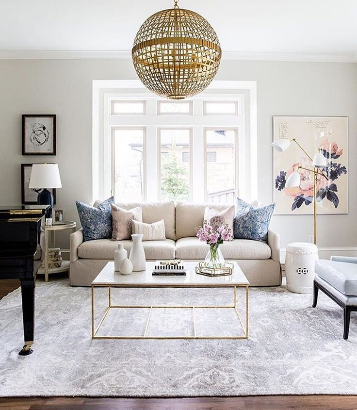 Foothill Drive Project Formal Living Room Inspiration Navy Blush And Gold By Studio McGee