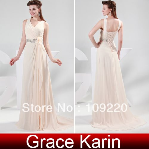 New GK Stock Chiffon Ball Gown Party Elegant Full-Length Evening Prom Dresses long 8 Size US 2~16 CL4364 $29.75