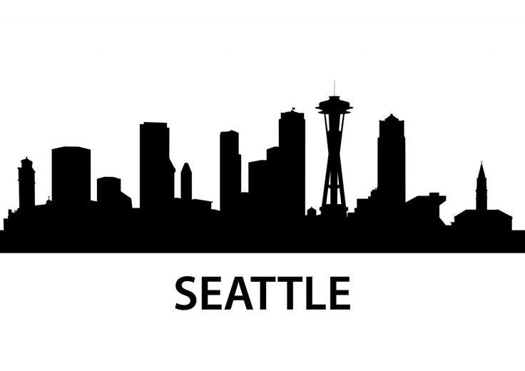 seattle skyline silhouette - Google Search