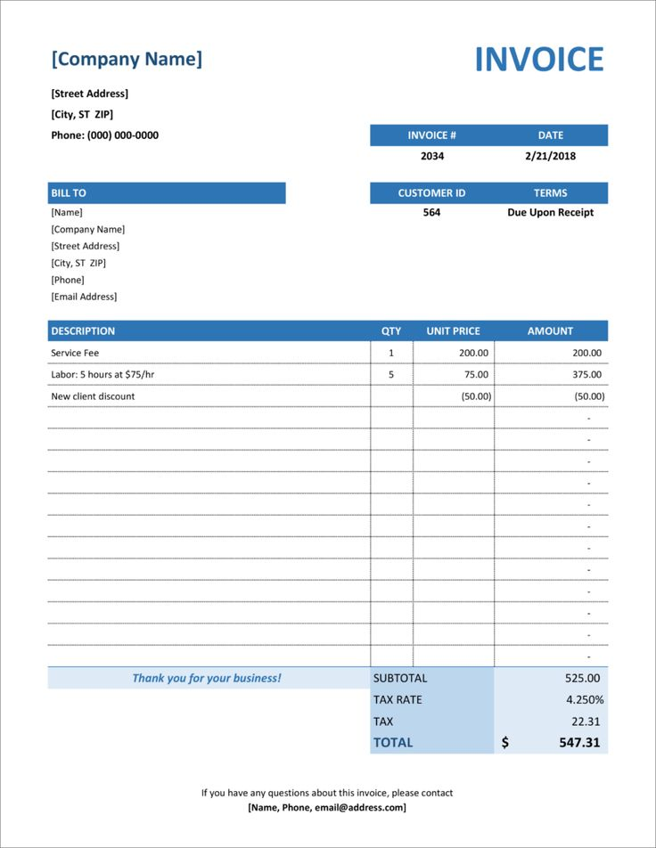 32 Free Invoice Templates In Microsoft Excel And DOCX ...