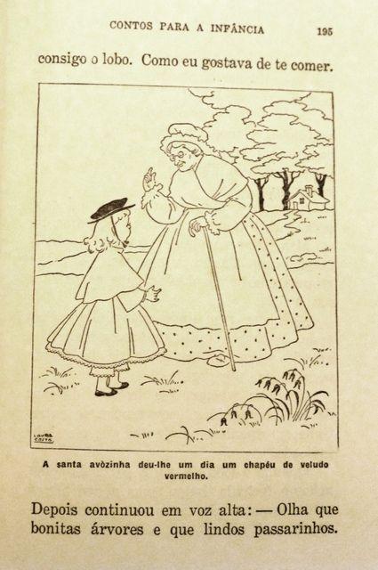 """Ilustração de Laura Costa_ conto  """"O Chapelinho Encarnado"""""""