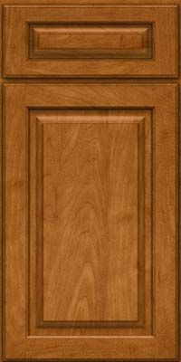 Door Detail - Arch Raised Panel - Solid (PWM) Maple in Golden Lager - KraftMaid Cabinetry