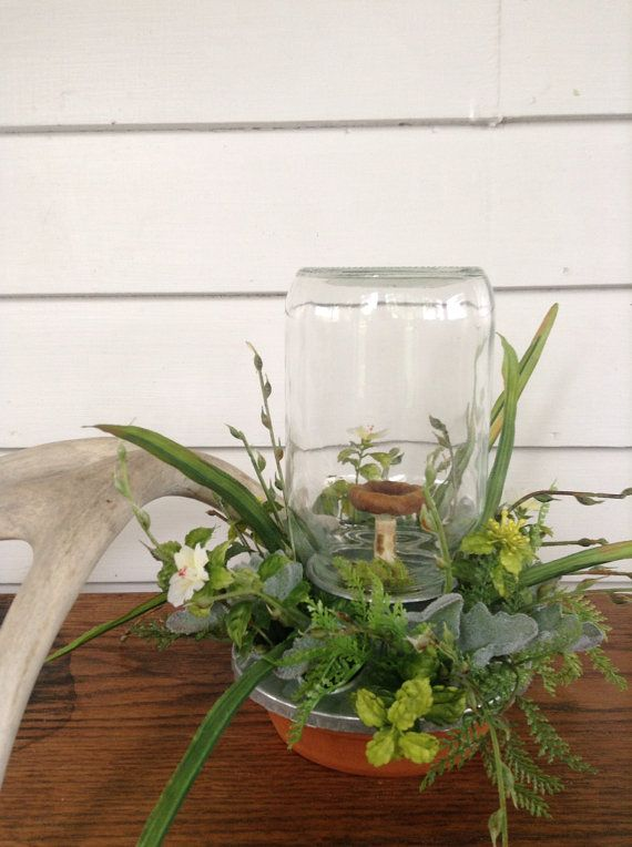 Rustic Farmhouse Terrarium by luxestarling on Etsy