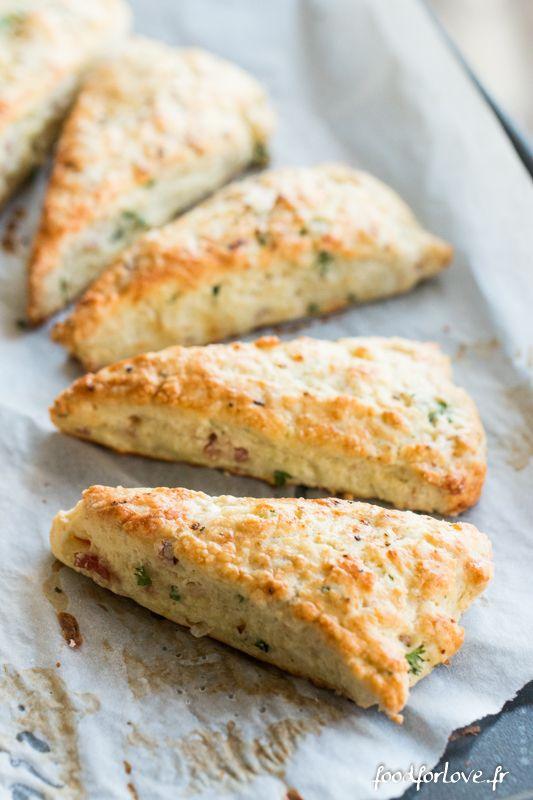 Scones au Roquefort, Jambon et Ciboulette - Food for Love