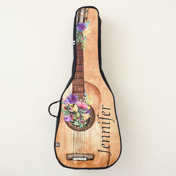 Unique Floral Acoustic Guitar Case Zazzle Com In 2020 Acoustic Guitar Case Guitar Gifts Guitar Case