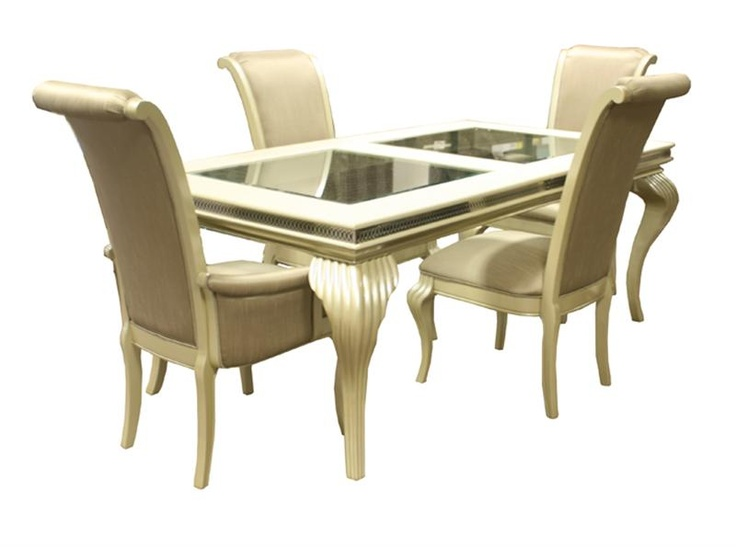 Dining Room Collection In A Pearl Cavier Finish For The Trendy Home    Hollywood  Swank