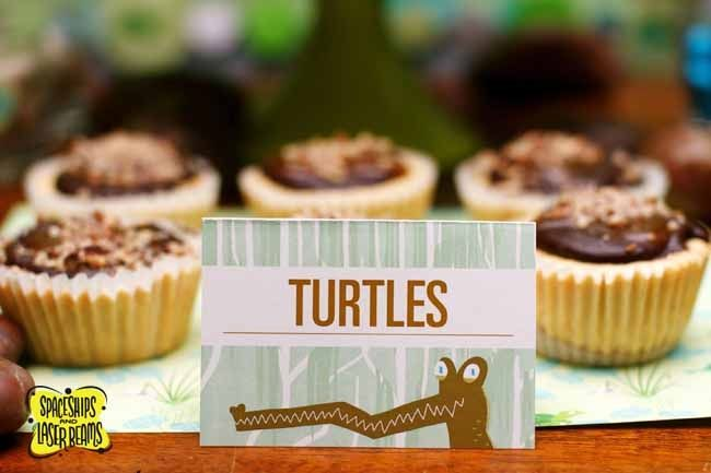 Alligator Party Ideas: Turtle Cupcakes! {Bayou Bash} - Spaceships and Laser Beams