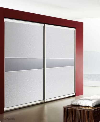 White Frosted Glass Fitted Sliding Wardrobe