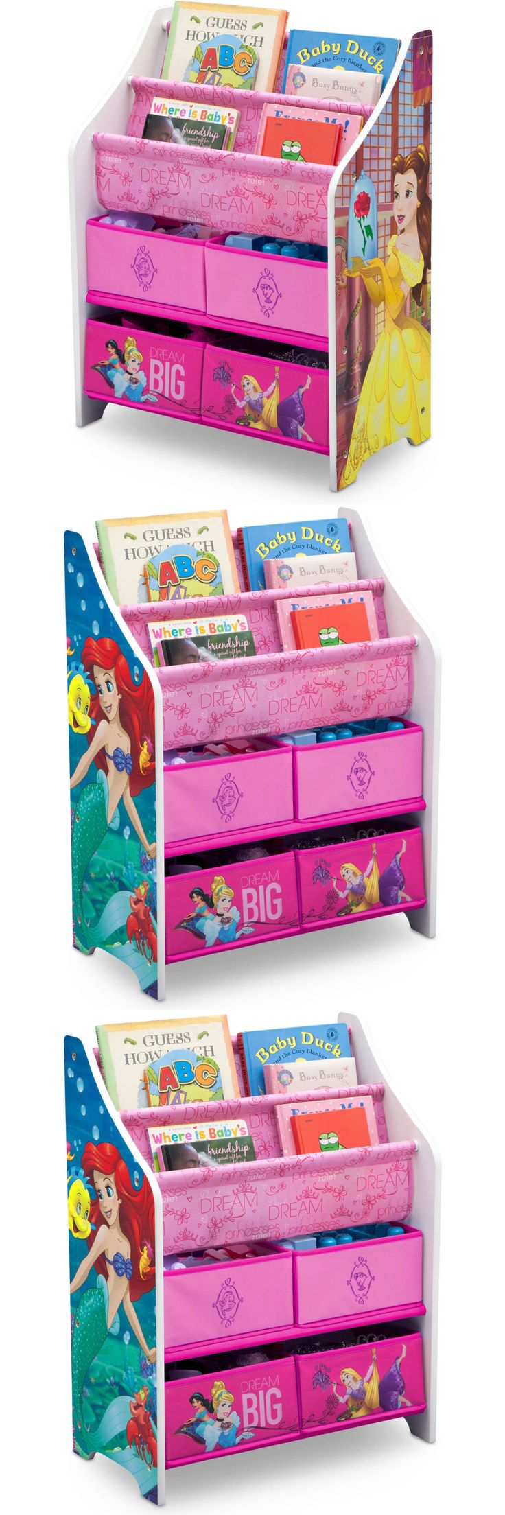 Kids at Home: Children Girls Disney Princess Book Toy Organizer Bedroom Decor Kids Storage -> BUY IT NOW ONLY: $47.95 on eBay!
