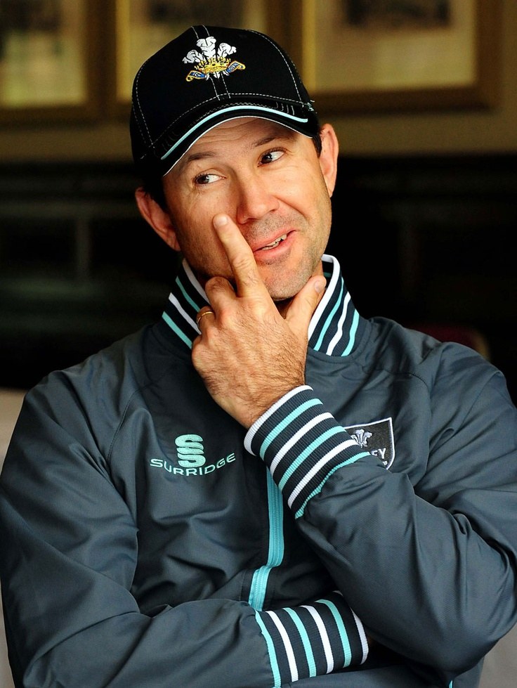 Ricky Ponting talks to the media before his expected Surrey debut