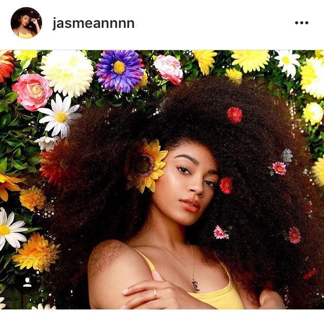 Pin By Maya Louis On Look 1 Flower Shoot Flowers In Hair Natural Hair Styles Flower Photoshoot