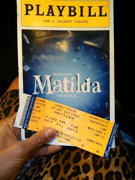 Matilda on Broadway. A review for families.