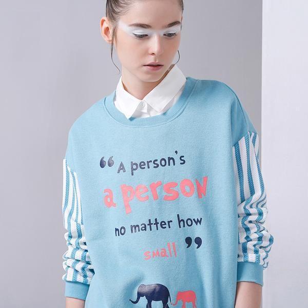 """""""Size doesn't matter"""" Pullover in einer wunderschönen """"Faux two piece"""" Kombination"""