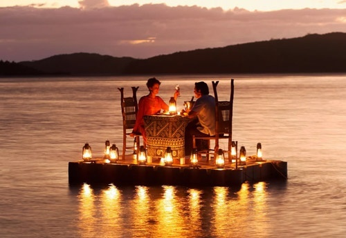 This would be the sweetest way to have dinner together EVER!
