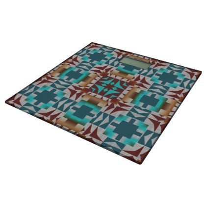 Trending Eclectic Ethnic Bohemian Mosaic Pattern Bathroom Scale - trendy gifts cool gift ideas customize