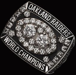 Oakland Raiders Super Bowl XV World Championship  ring.