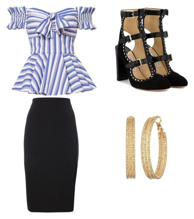 """""""Untitled #89"""" by denisapurple on Polyvore featuring Caroline Constas, Jimmy Choo and GUESS"""