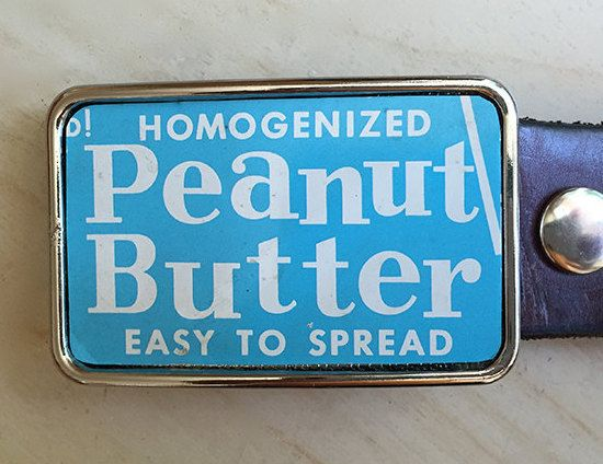 Vintage Peanut Butter Belt Buckle.  Belt Buckles for men and women. Fathers Day Gifts. by rockwell23 on Etsy $32