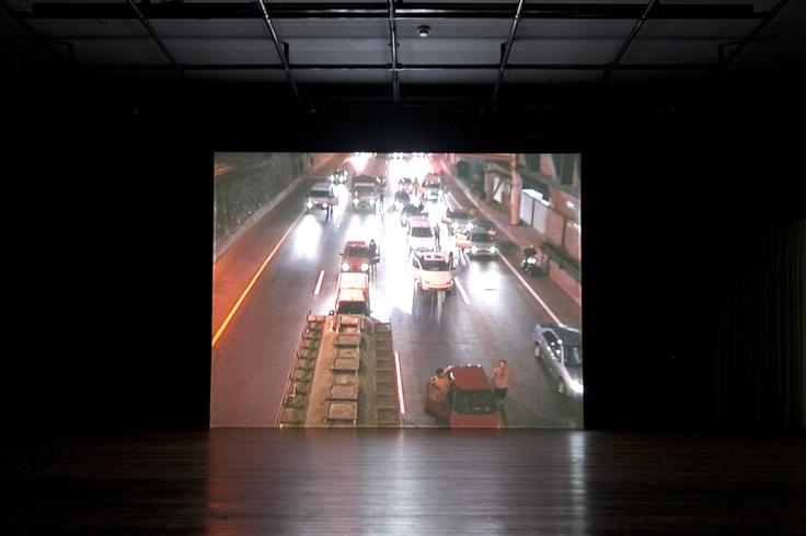 Yael Bartana, Trembling Time (2001) tijdens de Cultuurnacht Almere 2011. © Jordi Huisman, Museum De Paviljoens