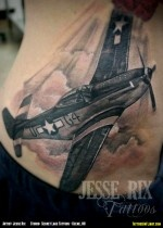 Fitting Fifty-One: North American P-51 Mustang WWII Fighter Airplane Tattoo