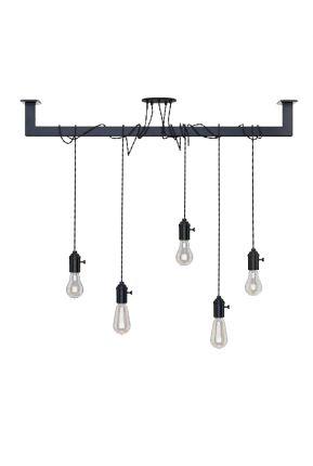 Industriële Lightbar: sfeervolle lamp, bijvoorbeeld boven de eettafel!