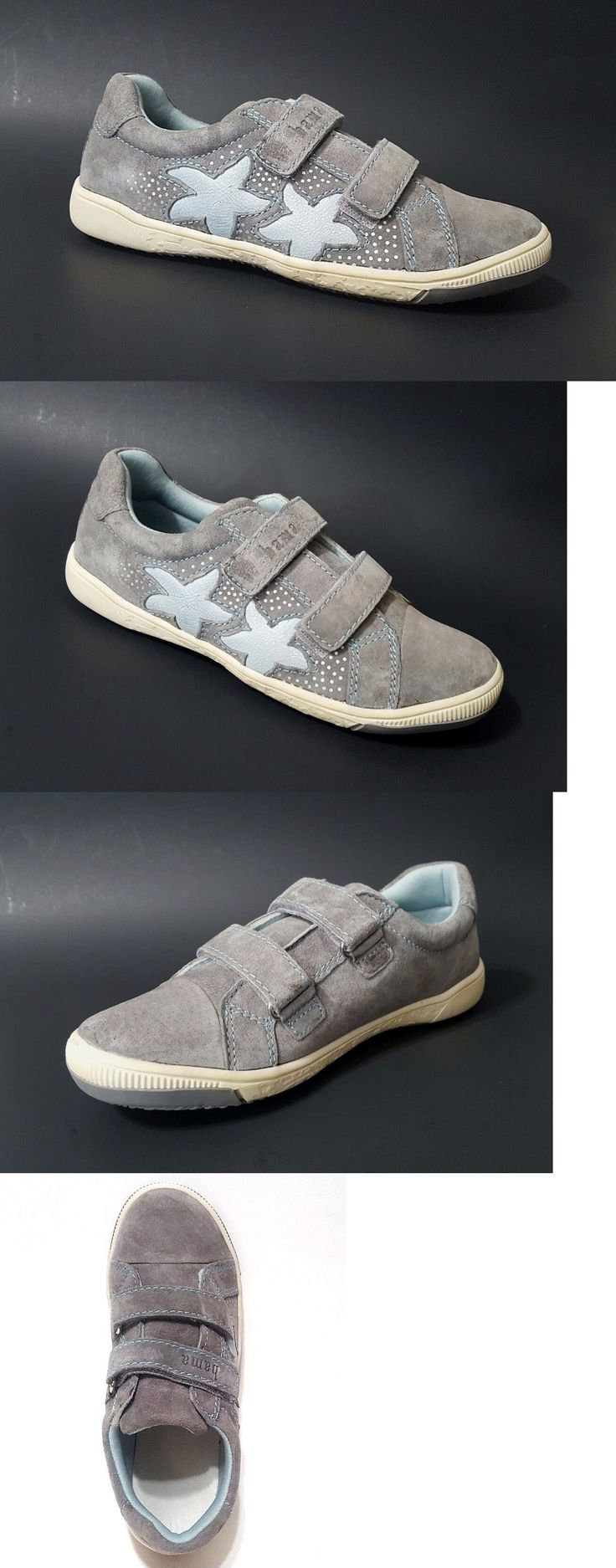 Girls Shoes 57974: New $90 Bama Kids Girls Shoes Leather European Fashion Gray Size 1 Usa 32 Euro -> BUY IT NOW ONLY: $44.99 on eBay!