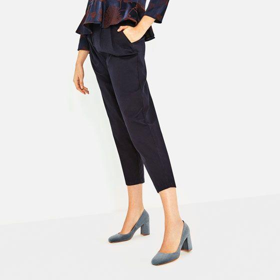 Image 1 of VELVET HIGH HEEL SHOES from Zara