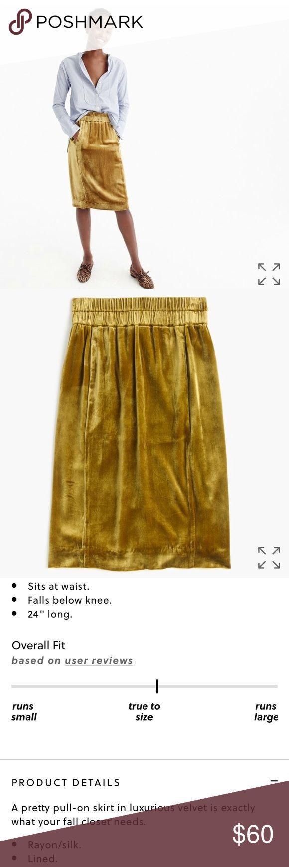 J Crew velvet pull on skirt Never worn.  No trades.  Price firm. J. Crew Skirts