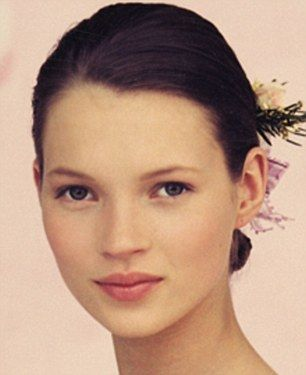 Kate Moss in 1991, aged 17.