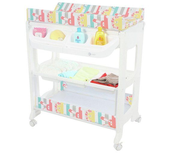 Buy MyChild Peachy Changing Station with Bath - Multi Zoo at Argos.co.uk - Your Online Shop for Changing units and changing tables, Nursery furniture, Sleep, Baby and nursery.
