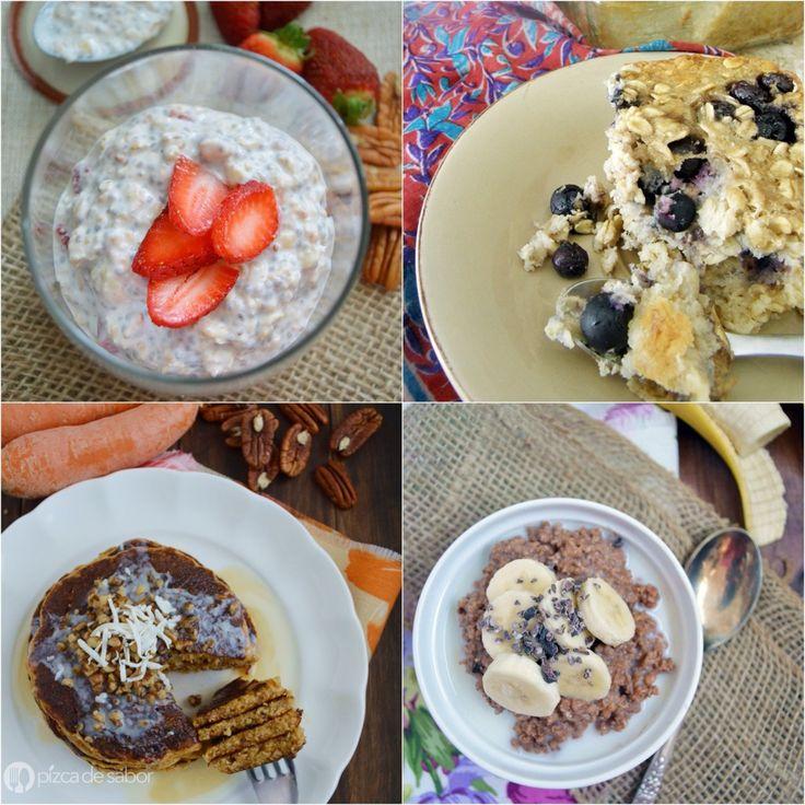 25 recetas con avena (nuevas formas para usar la avena en desayunos, snacks, postres, comidas, bebidas y más)   http://www.pizcadesabor.com