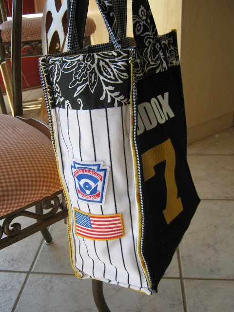 For the LOVE of Baseball Mom's..a great way to reuse those baseball pants and shirts.