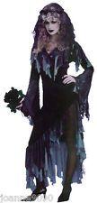 LADIES HALLOWEEN ZOMBIE CORPSE GHOST BRIDE FANCY DRESS COSTUME ONE SIZE 10 12 14
