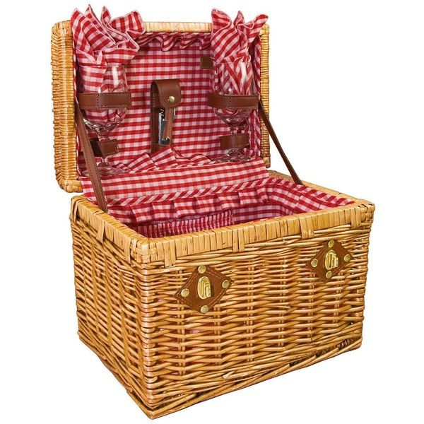 Picnic Time Chardonnay Wicker Wine Picnic Basket Set (1.195 ARS) ❤ liked on Polyvore featuring home, kitchen & dining, food storage containers, baskets, fillers, picnic, bags, entertaining and dining, picnic hamper and square food storage containers