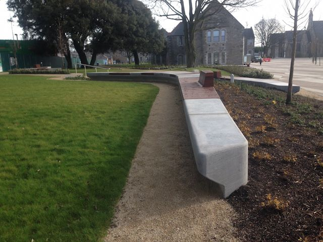 Beautiful Grangegorman Stresslite Architectural precast cladding used for public outdoor seating