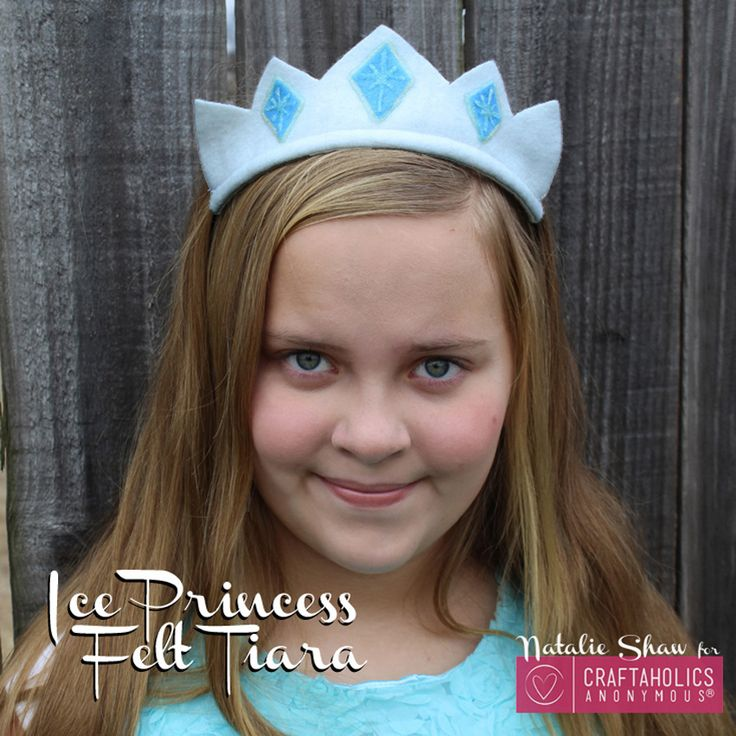 This Frozen Inspired Ice Princess Felt Tiara is easy to make and the perfect accessory for your ice princess wardrobe! Whip one up in minutes.