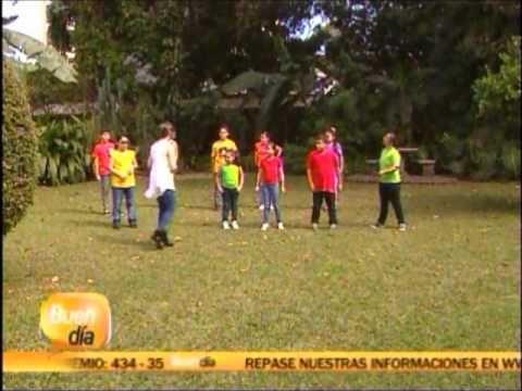 CLASES DE BAILE PARA NIÑOS 2014. MERECUMBE, BUEN DIA CANAL 7 - YouTube