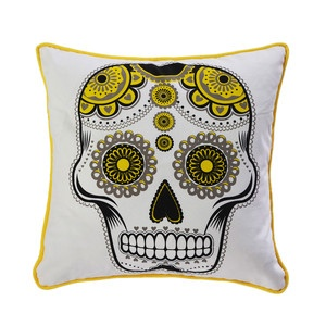 Sugar Skull 18x18 Black Yellow now featured on Fab.: Skull 18X18, Skulls Dead, 18X18 Black, Sugar Skulls, Products, Pillows, Room, Black Yellow
