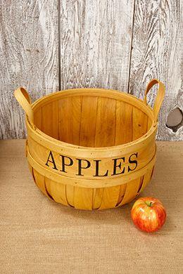 Medium wood apple basket