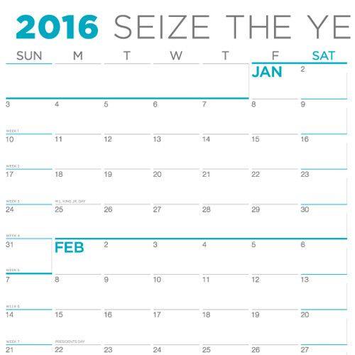 2016 Sunday First - Large Wall Calendar
