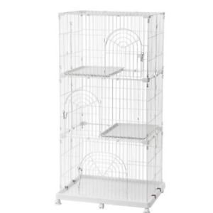 a cat pet cage 3 tier wire pet cage for cats cat playpen large white