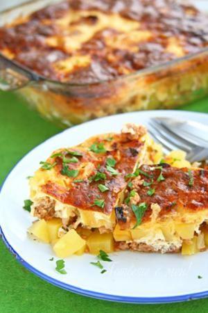 Bulgarian Musaka - recipe in Bulgarian - Мусака от месо и картофи