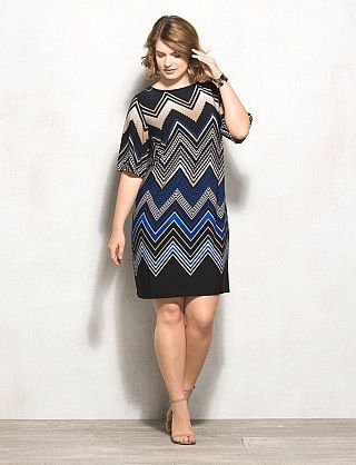 db Signature™ Plus Size Chevron Camryn Dress