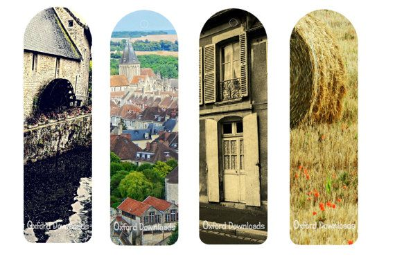 Normandy Bookmarks Printable Bookmarks French by OxfordDownloads