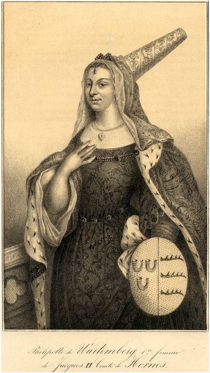Philippa van Würtemberg, eerste vrouw van Jacob II, graaf van Horne