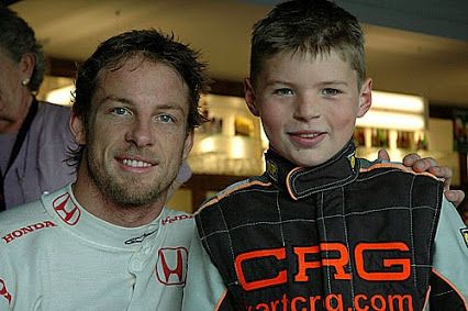 Jenson Button and Max Verstappen in 2006! Who would have guessed that they'd be racing against one another in 2015!
