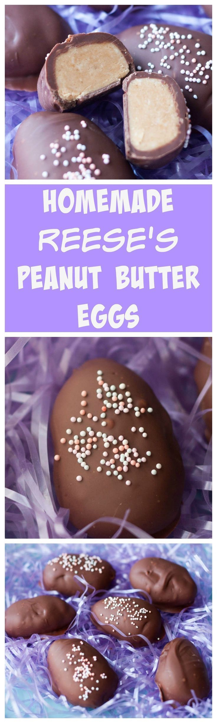 Homemade reese's peanut butter eggs- perfect treat for Easter and a 1000x times better!