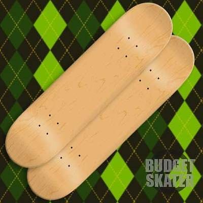 Decks 16263: 2 Blank Skateboard Decks - 8.5 In - Natural W/Jessup Grip BUY IT NOW ONLY: $39.99