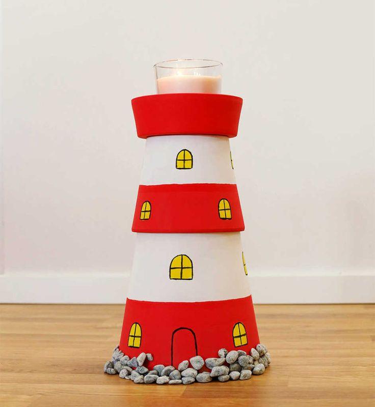 Leuchtturm basteln