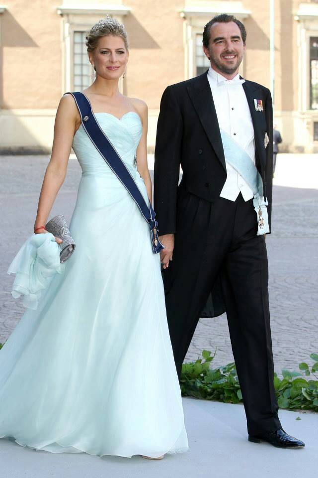 Prince Nikolaos of Greece with his wife Mrs Tatiana Blanick.